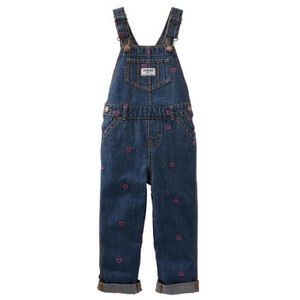 OshKosh Heart 💗 Embroidered Denim Overalls
